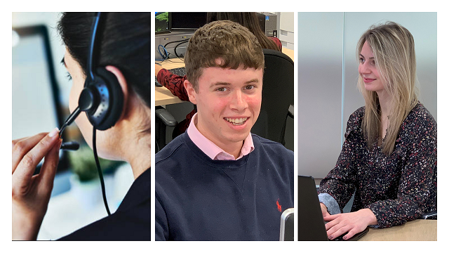 Kirsty, Joe and Amy are three of our apprentice alumni